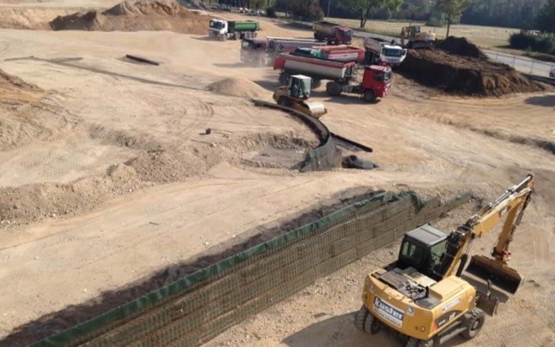 Herstellen der KBE-Wand